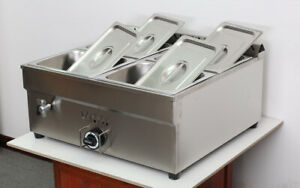 Lpg 4 pan Food Warmer Include Pressure Relief Valve Commercial Steamer Buffet