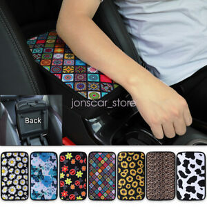 Car Center Console Protector Pad Flower Printing Armrest Box Mat Cover Decor