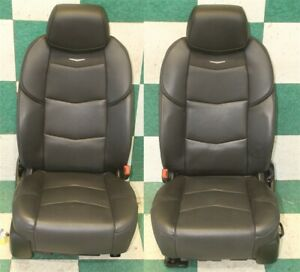 20 Escalade Esv Luxury Black Leather Suede Heat Cooled Dual Power Bucket Seats