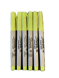 Sharpie Permanent Marker Ultra Fine Point Neon Yellow Ink 6 Count