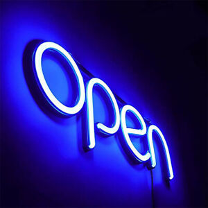 Open Business Sign Neon Lamp Integrative Ultra Bright Led blue open lamp Us