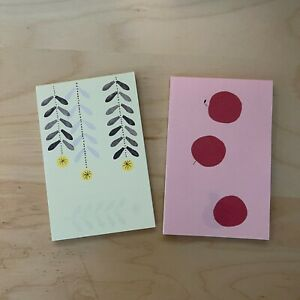 Hobonichi Accessory Mini Letters Set Of 2 apple And Flower