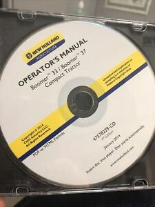 2014 New Holland Boomer 33 37 Tractor Operators Manual Cd Pdf Format Only
