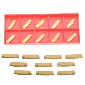 10pcs Mgmn200 g Carbide Inserts Blades For Mgehr mgivr Grooving Cut off Tool