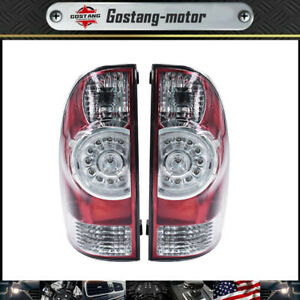 Pair Led Tail Lights Brake Lamps Left Right For 2005 2015 Toyota Tacoma