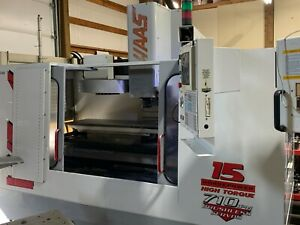 Haas Vf 4 Cnc Vertical Machining Center 4th Axis Ready Pallet Changer