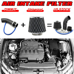 Cold Air Intake Filter Induction Pipe Kit Power Flow Hose System Car Accessory