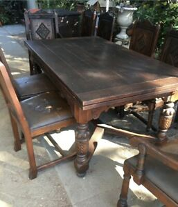 Antique Spanish Mission Dining Room Set 1920 S Local Pickup Los Angeles