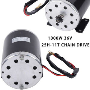 Dc 36v Electric Brush Motor For Scooter Go kart E bike 25h 11t Chain Drive 1000w