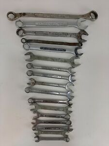 Vintage Craftsman Lot Of 17 Open Amp Closed End Combination Wrench