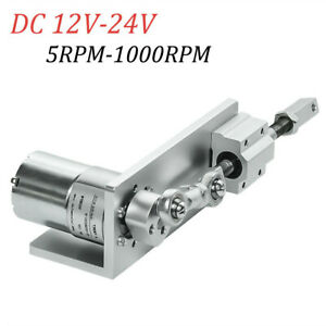 Dc 24v 1000rpm 10mm Diy Reciprocating Cycle Linear Actuator Electric Motor Gear