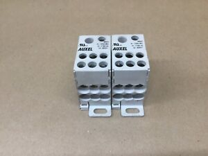 Lot Of 2 Altech Auxel 38041 Power Tap Distribution Block 600 V 59b28