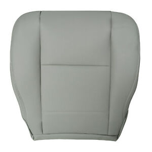For Toyota Sequoia Tundra 2000 To 2006 Driver Bottom Seat Cover Gray Leather