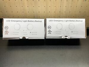2 Pack Led Emergency Exit Light 2 Adjustable Head With Battery Back up