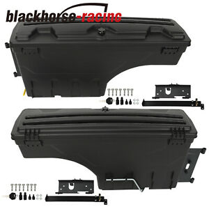 Pair Driver Passenger Side Storage Tool Box For 2004 2019 Nissan Frontier Titan