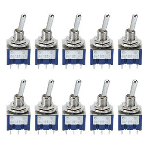 10pcs Mini 6mm Mts 202 Toggle Switch 2 Position 6 Pin On on 6a 125vac Switches