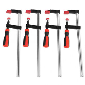 F Bar Clamps Woodworking Clips 4 Pcs Heavy Duty Long Quick Slide Hand Tool Set
