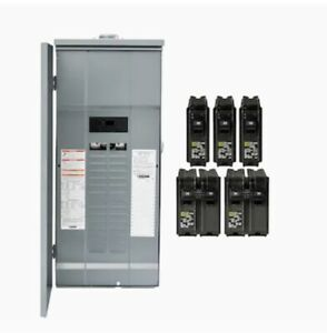 Square D 200 Amp 30 space 60 circuit Outdoor Main Breaker Panel Box Load Center