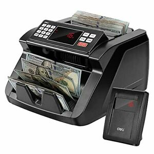 Deli Money Counter Bill Counting Machine With Uv mg ir Counterfeit Detection