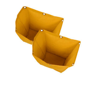 2x Oxford Waterproof Janitorial Cleaning Cart Bag Storage Bag Cleaner Yellow