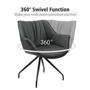 Modern Faux Leather Upholstery Home Office Chair Swivel Computer Desk Task Seat