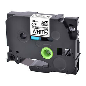 Tze s241 Ex strength Black On White Label Tape For Brother Pt p700 750w 3 4