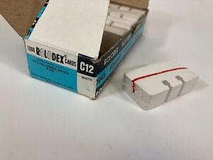 Vintage 100 White Rolodex Brand C12 Refill Cards 100 Sealed 1 1 2 X 2 3 4 New