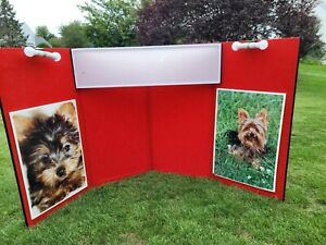 Trade Show Booth Fabric Vendor Display Panels And Nimlok Wheeled Carrying Case