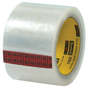 3m 375 Carton Sealing Tape 3 X 55 Yd Clear Case Of 24 Industrial Tape