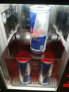 Red Bull Baby Cooler Led Mini Fridge Table Top Eco Cooler 50 Mile Free Delivery