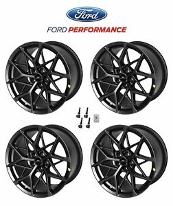 2015 2021 Ford Mustang Mach 1 Oem Staggered Dark Charcoal Wheels 19 X 11 10 5