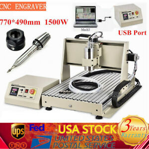 Usb 3 Axis 6040 Cnc Router Engraver 1 5kw 3d Cutting Drilling Milling Machine Us