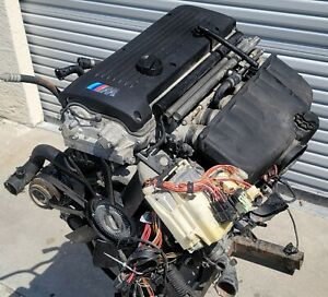 Bmw E46 M3 S54 S 54 Engine Motor Complete Harness Accessories Low Mile