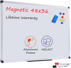 Board2by Magnetic Dry Erase Whiteboard 48 X 36 Inches 4 X 3 Large White Board