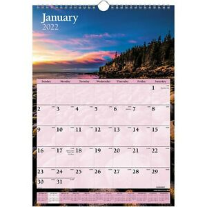 2022 At a glance Dmw200 28 Scenic Monthly Wall Calendar 12 X 17