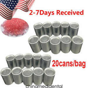 20 Cans Dental Lab Bulk Acrylic Smooth Flexible Denture Material Invisible Glue