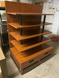 Ucd Wood 41 5 Brown Product Retail Store Display Candy Fixture Shelf W drawers