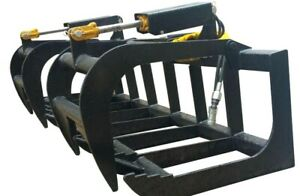 68 Bobcat E series Root Grapple Skidsteer Attachment Universal Free Shipping