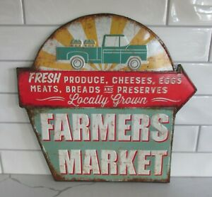 Farmers Market Wall Sign Primitive Home French Country Kitchen Farmhouse Decor