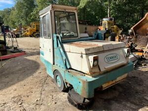 Tennant 95 Industrial Street Ride On Gas Sweeper Free Ship W 25 Miles Only