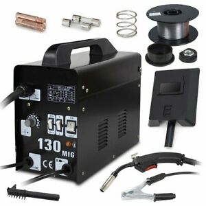 Zeny Mig 130 Gas Less Flux Core Wire Automatic Feed Welding Machine W Mask