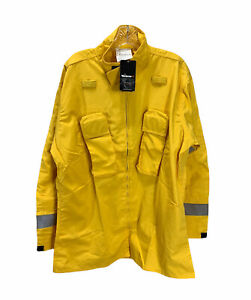 Nwt Workrite Wildland Jacket Fire Fighting Fr Yellow Size Large