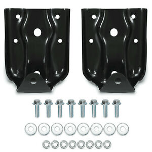 2pcs Rear Leaf Spring Hanger Shackle Kit For 07 09 Chevy Silverado Gmc Sierra Fits More Than One Vehicle