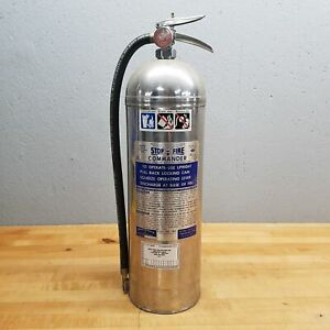 Stop fire Commander Rjs 51 Water Fire Extinguisher 2 5 Gallons Used