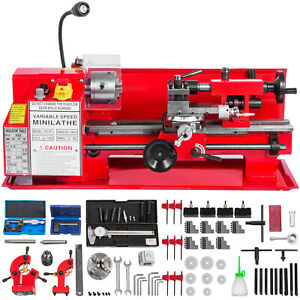 550w 7 x12 Metal Mini Lathe Luxury Accessory Package 50 2500rpm Variable Speed