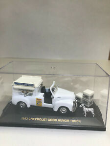 Vintage 143 Scale Road Champs Diecast 1953 Chevy Good Humor Truck With Case