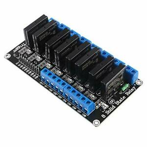 Aitrip 1pcs 8 Channel 5v Solid State Relay Module Board High Level Trigger Co