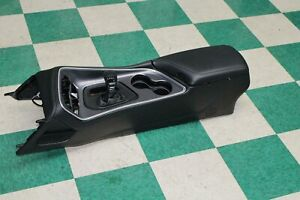 2015 2020 Challenger At Black Leather Front Floor Console Shifter Oem Unit