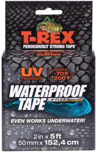 T rex Waterproof Tape For Wet Or Rough Dirty Surfaces 2 Inch Wide Black