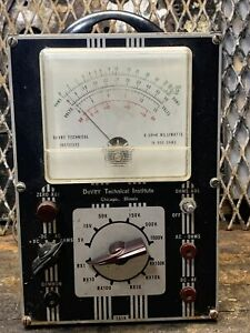 Industrial Steampunk Devry Tester Meter Untested Lamp Project Decor Vintage
